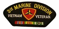USMC THIRD 3RD MARINE DIVISION MARDIV VIETNAM VETERAN PATCH W/ CAMPAIGN RIBBONS