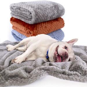 Soft Plush Pet Blanket Comfortable Cat Dog Self-Warming Bed Mat Cushion Washable