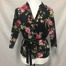 Womens Blouse. Black & Floral Size 12. Excellent Condition