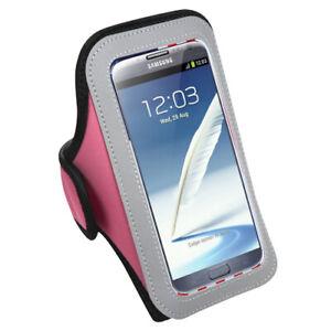 Hot Pink Sport Armband Case Pouch For LG V20 / V30 / V40 ThinQ / V50 ThinQ