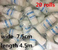 7.5cm x 4.5m  20 Roll Medical Bandage Tape Finger Joint Wrap Sports Strap Care