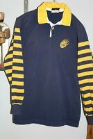 Vintage Canterbury Of New Zealand Cal-Rugby Shirt with # 15 on Back - Striped
