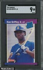 1989 Donruss #33 Ken Griffey Jr. Seattle Mariners RC Rookie HOF SGC 9 MINT