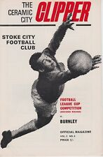 STOKE CITY v BURNLEY ~ LEAGUE CUP 2ND ROUND ~ 3 SEPTEMBER 1969 SUPERB CONDITION