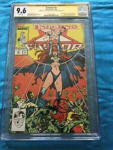 X-Factor #37 - Marvel - CGC SS 9.6 NM+ - 2x Signed by Walt and Louise Simonson
