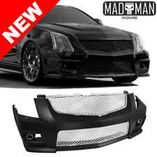 2008-2012 CADILLAC CTS V CONVERSION FRONT BUMPER W/ CHROME GRILLES + FOG LIGHTS