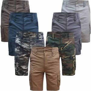 Airwalk / Beverly Polo Mens Cargo Shorts Stretch Cotton Combat Pants 6 Pockets