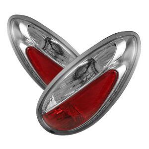 Fit Chrysler 01-05 PT Cruiser Chrome Euro Style Rear Tail Light Set Brake Lamp