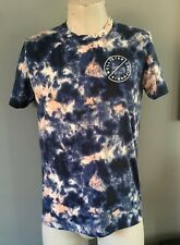 Blue Tie Die Effect Hollister Mens t shirt Size Large Pit To Pit 21 Inches