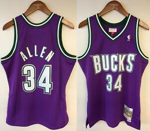 Ray Allen Milwaukee Bucks Mitchell & Ness NBA Authentic Jersey 2000-2001 Purple