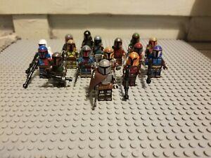 MANDALORIAN Lot of 16 Different Mandalorian Creed Minifigures With Mando