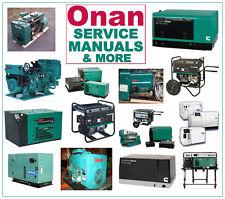 Onan AJ GenSet Generator RV PARTS MANUAL -33- MANUALS on a CD