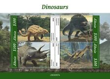 More details for liberia dinosaurs stamps 2020 mnh prehistoric animals triceratops 4v m/s