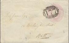 GB : POSTAL STATIONERY:1845 1d pink envelope -177 numeral cancel of CHELTENHAM