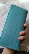 Multi Purpose Cell Phone Wallet for Women,  faux weave Pattern Clutch Purse