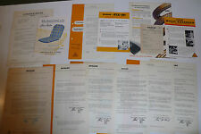 Dunlop / Dunlopillo - 21 Prospekte, Händlerinfos, Preislisten, Karten, 1951-1955