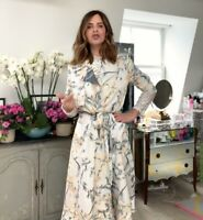 ZARA SS20 LIMITED EDITION CAMPAIGN PRINTED FLOWING COAT SIZE S BLOGGERS F TRINNY