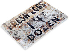 TIN SIGN Fresh Eggs 50c Metal Décor Chicken Pen Farm Store Market Kitchen A825