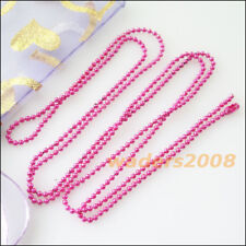 4 New Colours Necklaces Ball Chain 1.5mm Beads W/Connectors 70cm
