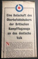 WW 2 USA Allies Leaflet For German Troops RAF British Air Forces Message