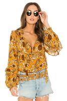 Spell & the Gypsy Etienne Blouse Small - Sienna Color
