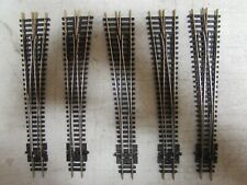 5 PECO NICKLE/SILVER SWITCH TURNOUTS CODE 80 N-SCALE  (LOT 727)