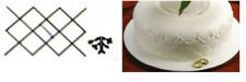 Patchwork Cutters DIAMOND SIDE DESIGN - Cake Decorating Embosser Cutter