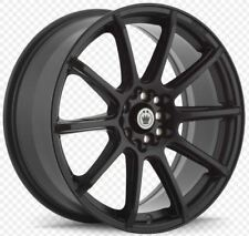 17x7 KONIG CONTROL 5X100/114.3 +45 MATTE BLACK Rims (Set of 4)