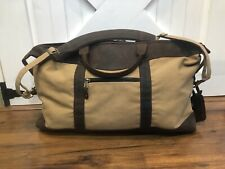 CANYON OUTBACK Canvas LEATHER Duffel Bag Overnight Weekender CARRY ON Luggage