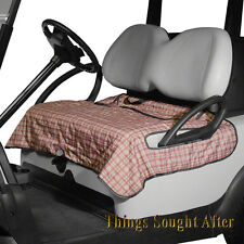 HERITAGE PLAID GOLF CART SEAT BLANKET Bench Cover E-Z-GO CLUB CAR YAMAHA & Other