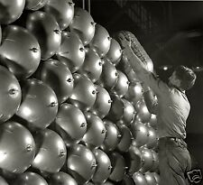 WW2 B&W Photo Aircraft Oxygen Bottles at  Factory  WWII WW2 World War Two