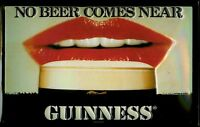 Guinness Labios Letrero de Metal 3D en Relieve Arqueado Tin Sign 20 X 30CM