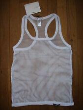 Débardeur Blanc taille XL  résille transparent sheer sexy gay Ref M10