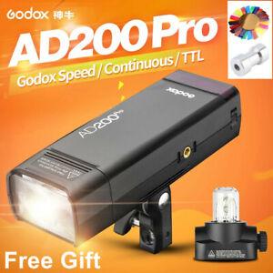 Godox AD200Pro AD200 Pro 2.4G TTL 1/8000 HSS All-in-One Outdoor Flash Light Lite