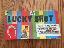 VINTAGE LUCKY SHOT TIDDLY WINKS BOARD GAME