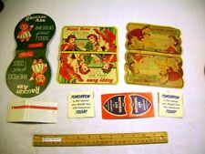5 Needle Cases w/ Raggedy Ann Foods + TWA + Happy Home + Sewing Circle VINTAGE