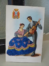 Spanish Embroidered Woman Dress Clothing Spain Andalucia 7 Man Guitar POSTCARD