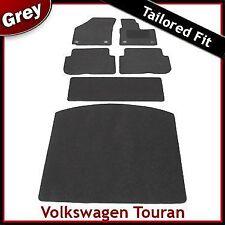 VW Touran Mk2 2010-2015 Totalmente a Medida Alfombra Alfombrillas de arranque para automóviles y Equipada Gris