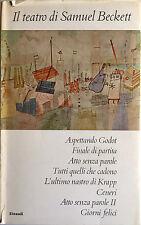 IL TEATRO DI SAMUEL BECKETT TRADUZIONE DI CARLO FRUTTERO EINAUDI 1962