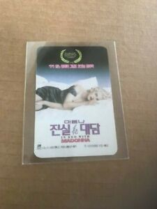 BED WITH MADONNA TRUTH OR DARE [JAPAN) Promo Calendar 1991 Rare