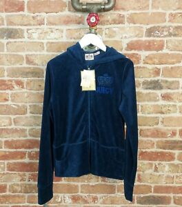 JUICY COUTURE Tracksuit Top Velour Navy XL BNWT Sun Bunny Terry Basics USA Y2K