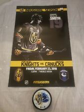 NHL Vegas Golden Knights vs Vancouver Canucks Poster 2/23/18 Reilly Smith