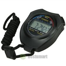 NEW Handheld Digital LCD Sports Stopwatch Counter Timer Chronograph US