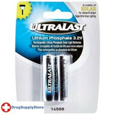 PE UL14500SL-2P 14500 Lithium Batteries for Solar Lighting, 2 pk