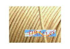 BIGIOTTERIA PERLINE - 20 metri di filo cerato ecrù - 0,5 mm