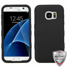 MYBAT Rubberized Black/Black TUFF Hybrid Case for G930 (Galaxy S7)