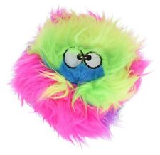 Godog Sherpa Rainbow Furballz Chew Guard Toy Large Plush Fuzzy Ball Squeaker