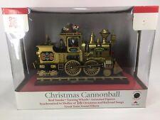 Mr. Christmas Christmas Cannonball Gold Train 2005 Animated Plays 16 Songs LN