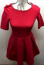 Classic Zara Little Red Women Dress XS Cotton Made In Portugal