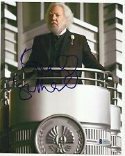 Hunger Games DONALD SUTHERLAND Signed 8x10 Photo President Snow Beckett C06295
